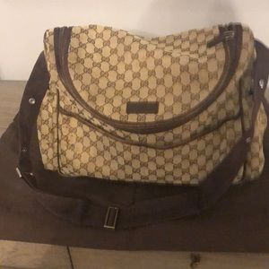 Gucci diaper baby bag DOUBLE GG